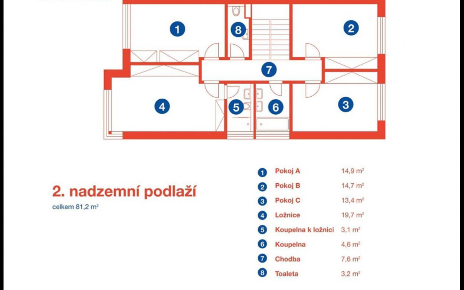 TOWNHOUSE FOR RENT, street Na Výrovně, Praha 5